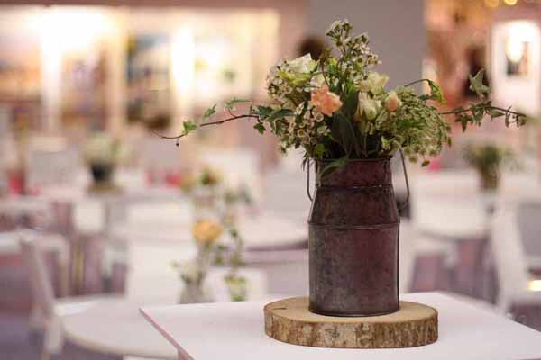 Milk Churn Wedding Centrepiece Rustic Wedding Table Decorations