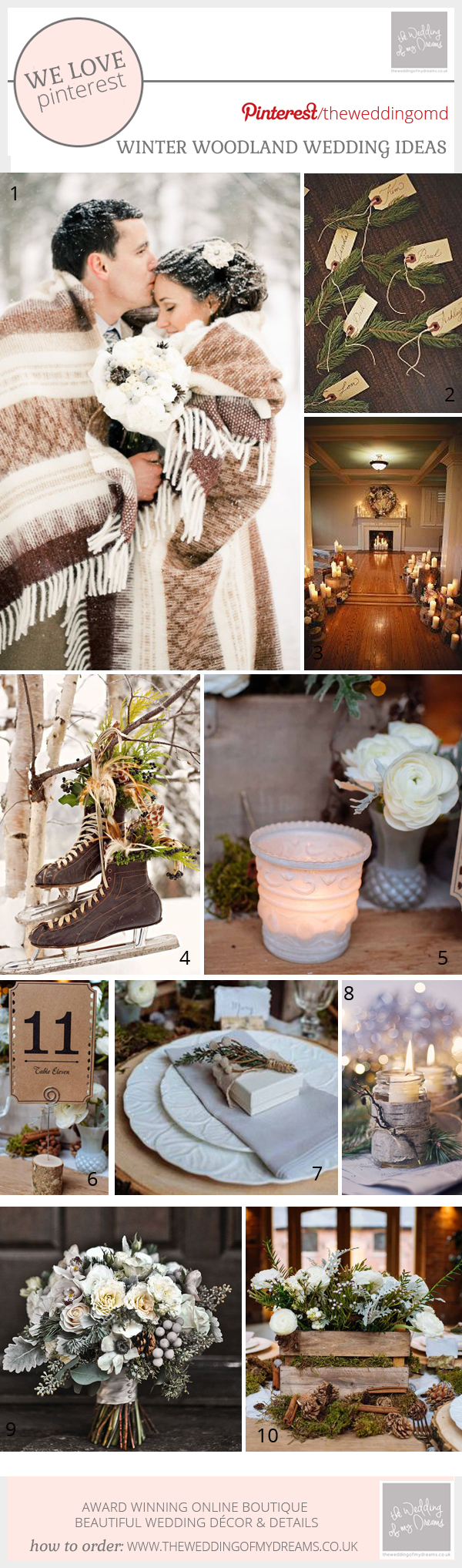 WINTER WOODLAND WEDDING IDEAS AND DECORATIONS