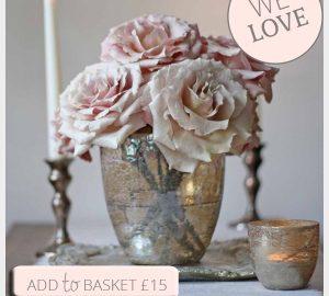 antique bronze gold vase wedding centrepiece