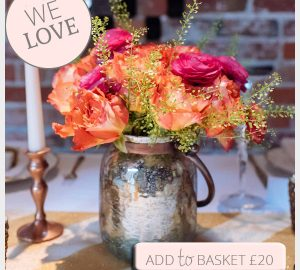 bronze vase wedding centrepiece or lantern