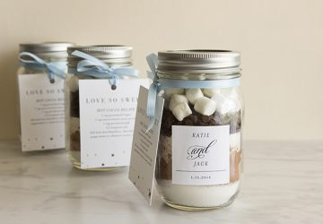 hot chocolate wedding favours