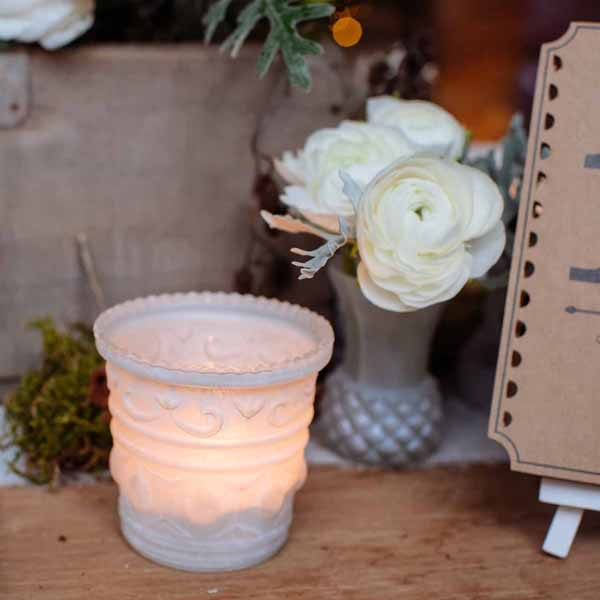 frosted-white-tea-light-holders-winter-wedding-decorations