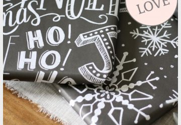 hand drawn chalkboard wrapping paper for christmas wrapping ideas