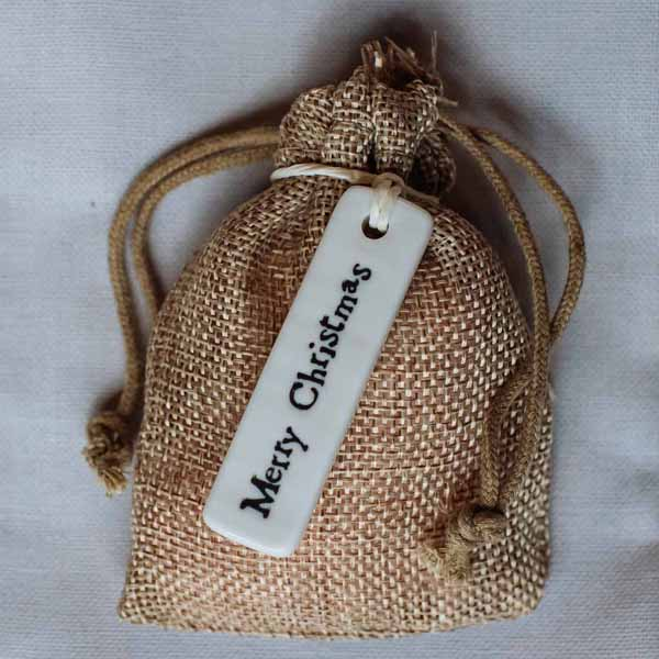 Merry Christmas ceramic christmas gift tags