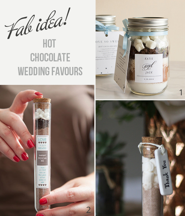 how to make hot chocolate wedding favours