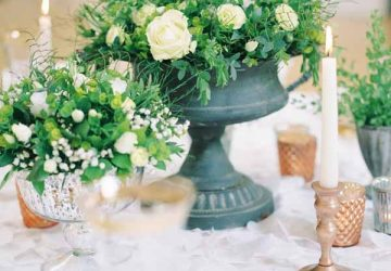 how to style a grey urn centrepiece