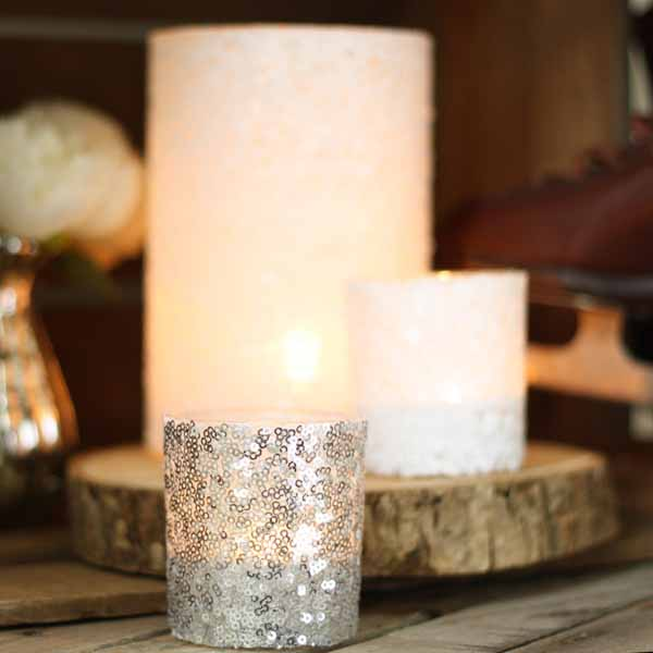 silver-white-sequin-candle-holders-winter-wedding-decorations