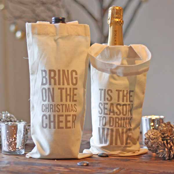 wine bottle gift bags for Christmas gifts