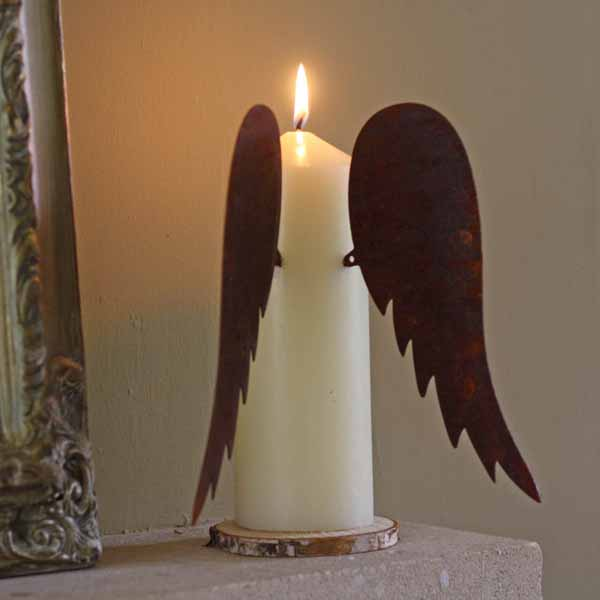 wings for church pillar candles winter wedding decorations
