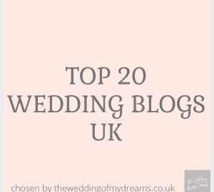 Top 20 wedding blogs UK