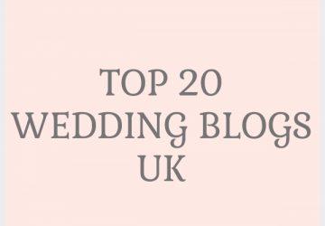 Top 20 wedding blogs UK