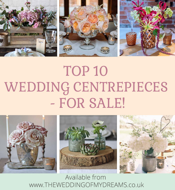 top 10 wedding centrepieces for sale uk