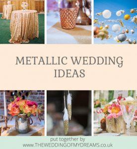 Metallic Wedding Ideas by @theweddingomd