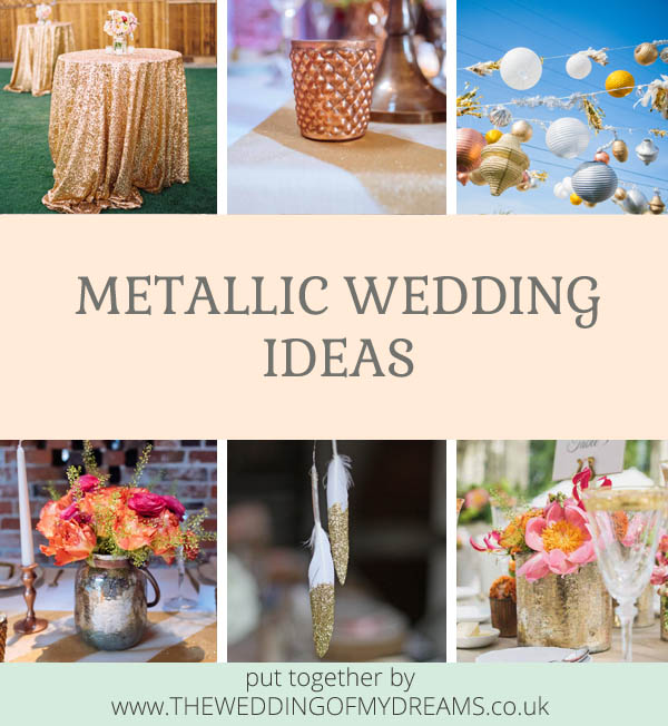 Metallic Wedding Ideas by @theweddingomd
