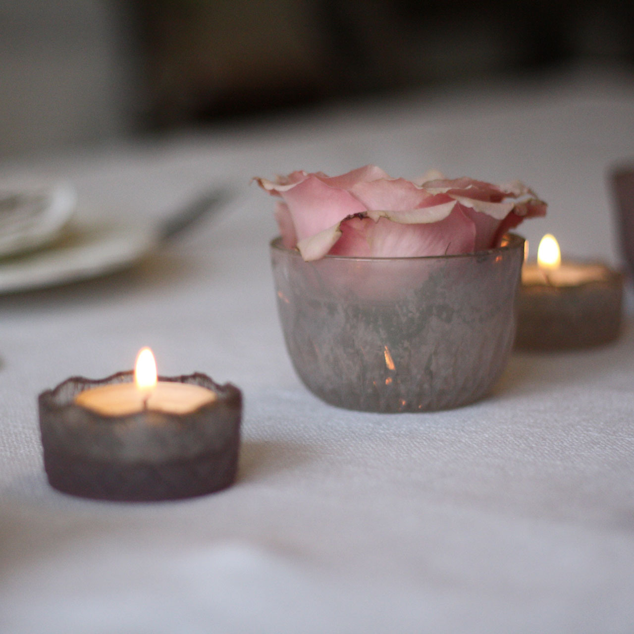 Wedding Table Decoration we love: Dusky Pink Bowl Tea Light Holder or Vase - available from @theweddingomd