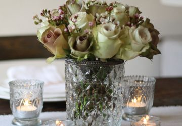 Grandma's Vase - A lovely pressed glass vase wedding centrepiece - available from @theweddingomd