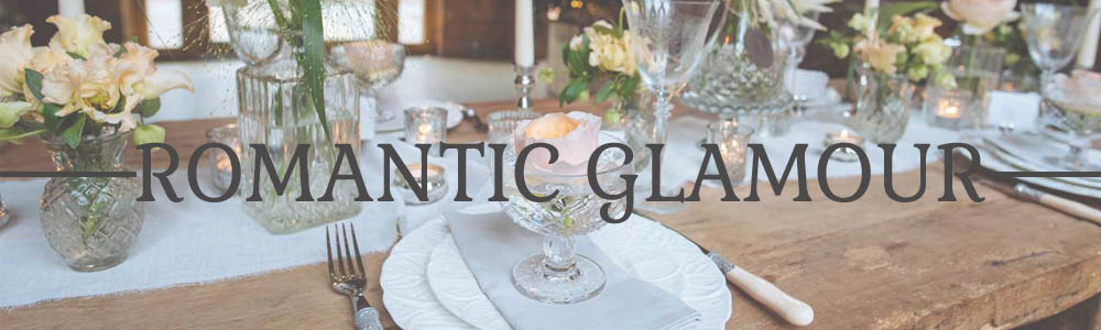 ROMANTIC GLAMOUR WEDDING DECORATIONS FOR SALE PRESSED GLASS VASES DECANTERS