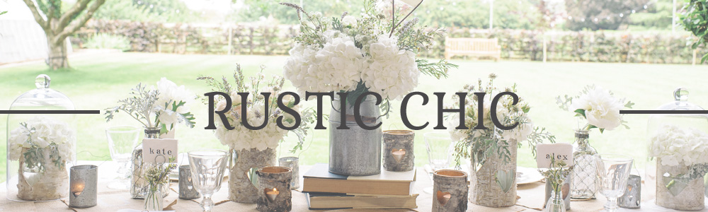 RUSTIC CHIC WEDDING DECORATIONS FOR SALE - www.theweddingofmydreams.co.uk