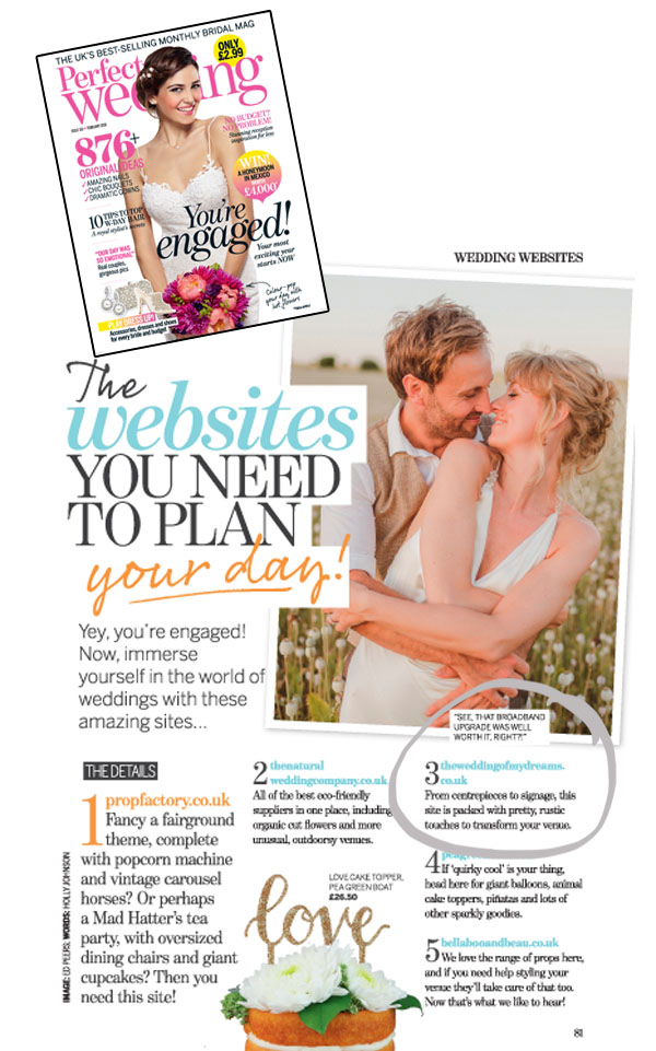 The Best Wedding Websites 2016 by Perfect Wedding Magazine - featuring @theweddingomd