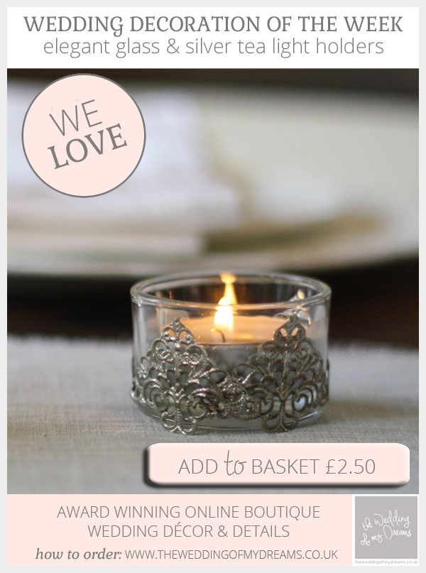 elegant glass and silver tea light holders available from @theweddingomd