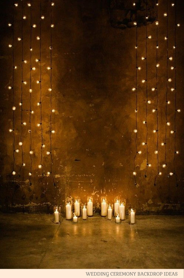 String Lights For Backdrop : Wedding Ceremony Backdrop Ideas