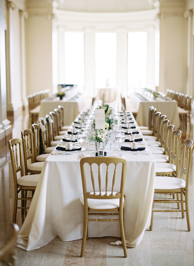 Gold Chairs Look Fab Around The Table Metallic Wedding Ideas Uk