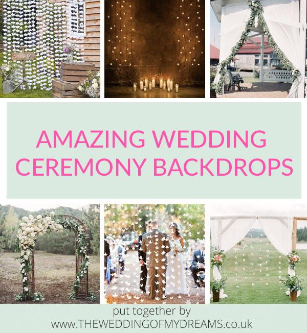 AMAZING WEDDING CEREMONY BACKDROPS