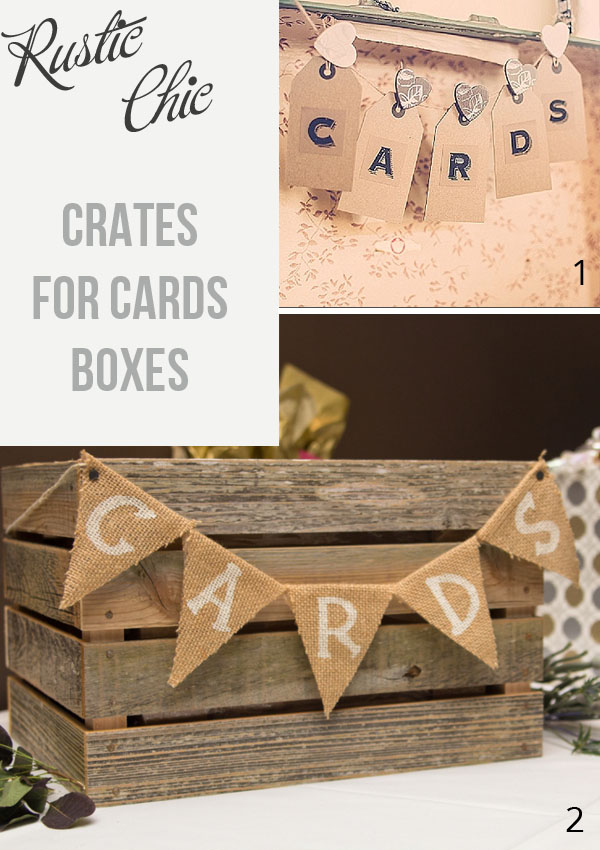 For a rustic wedding use wooden crates for cards boxes available from @theweddingofmydreams