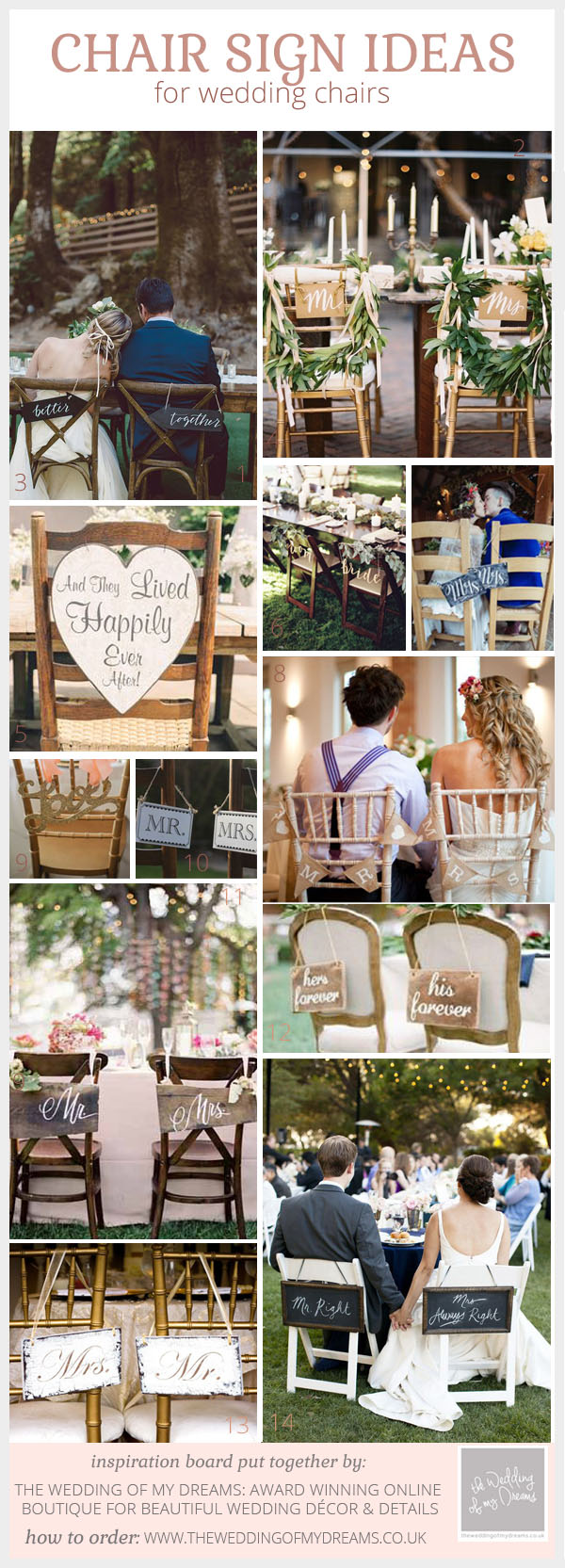 Wedding Chair Sign Ideas by @theweddingomd