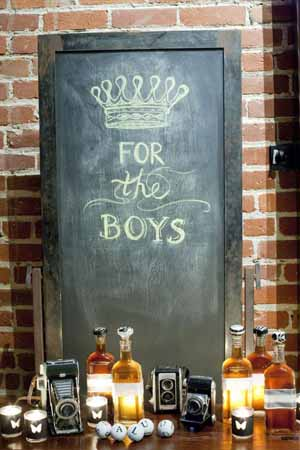 blackboard signs for boys bar at weddings