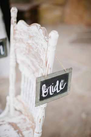 blackboard signs for bride and groom chair backs