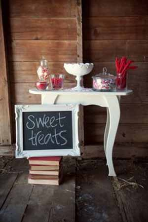 blackboard signs for sweet treats at weddings