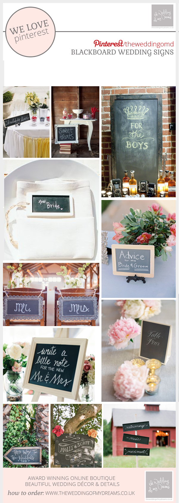 chalkboard wedding signs - blackboard wedding signs - ideas for your wedding