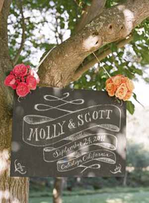 blackboard wedding signs