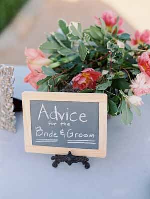 use blackboards to ask your guests for advice for the bride and groom