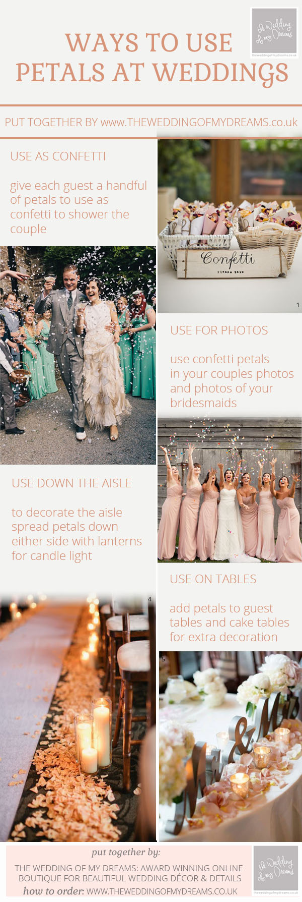 ways to use petals at your weddings - confetti petals petals in photos petals for wedding tables by @theweddingomd