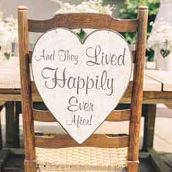 wedding chair sign ideas for the bride and grooms chairs