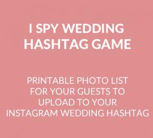 wedding instagram hashtag game square