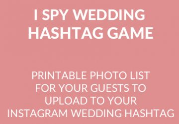 wedding instagram hashtag game square