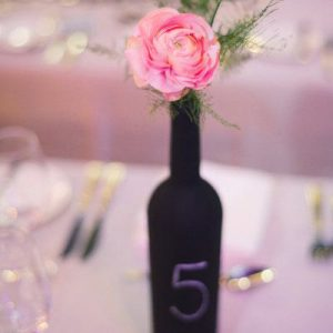 blackboard wine bottle table numbers sq