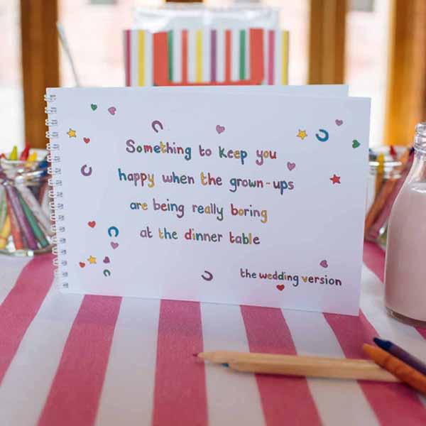 Childrens Wedding Activity Pack Ideas