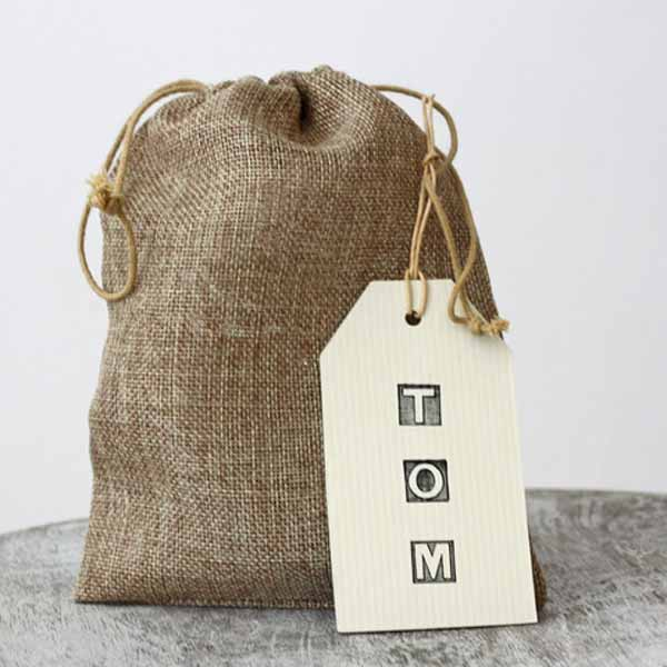hessian childrens activity bags available from @theweddingomd