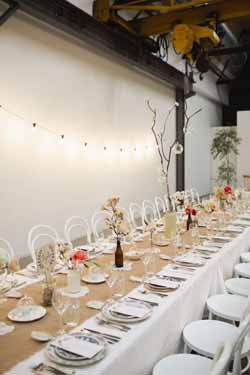 long wedding guest tables