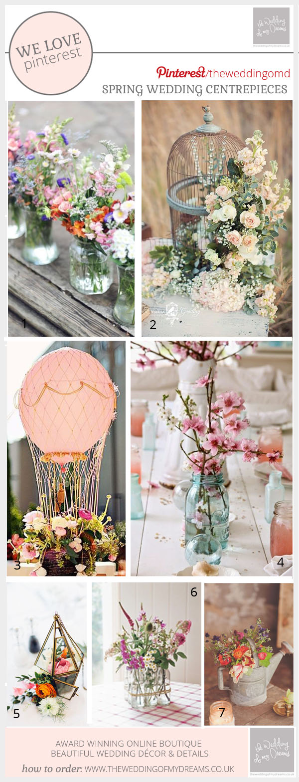 spring wedding centrepiece ideas