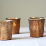 Bronze tea light holders available from @theweddingomd
