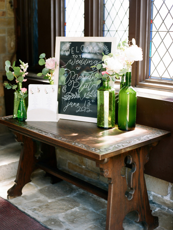 Chalkboard welcome signs - wedding welcome table ideas (1)