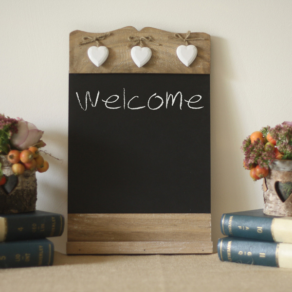 chalkboard noticeboard for wedding welcome signs available from @theweddingomd