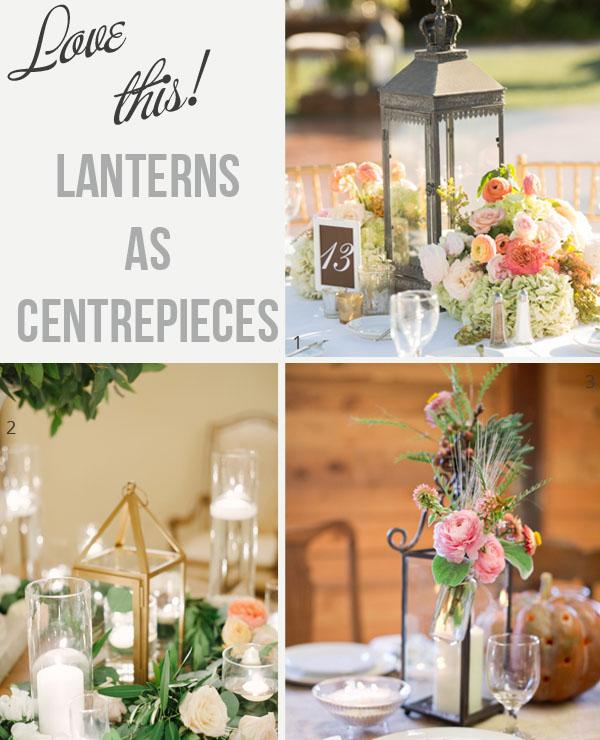 lanterns for wedding centrepieces