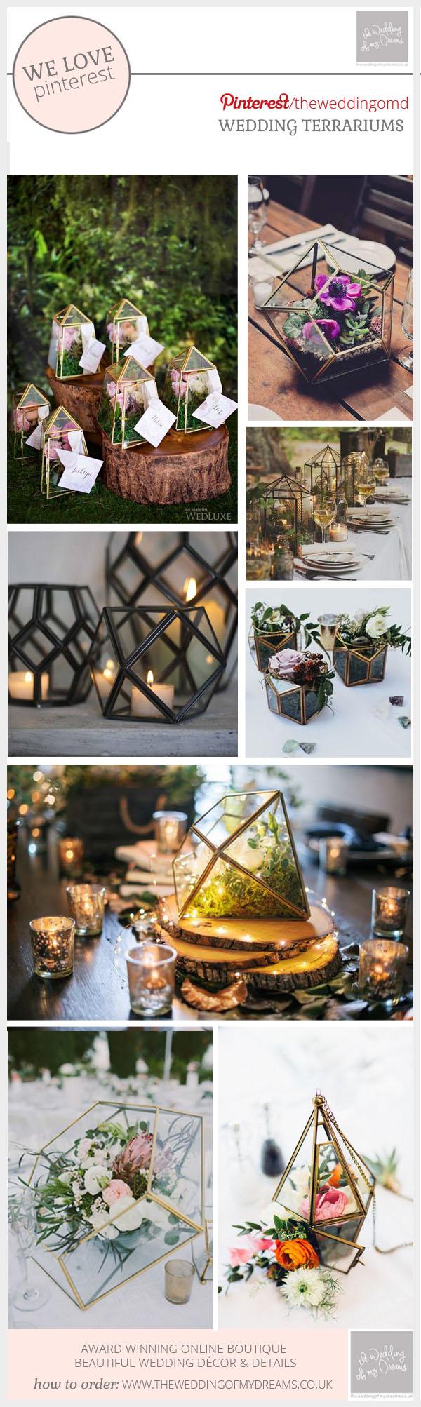terrariums at weddings