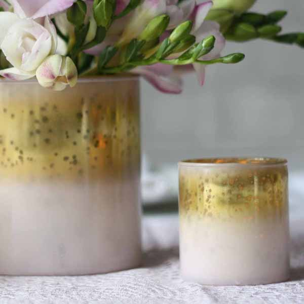 Blush pink and gold tea light holders available from @theweddingomd The Wedding of my Dreams